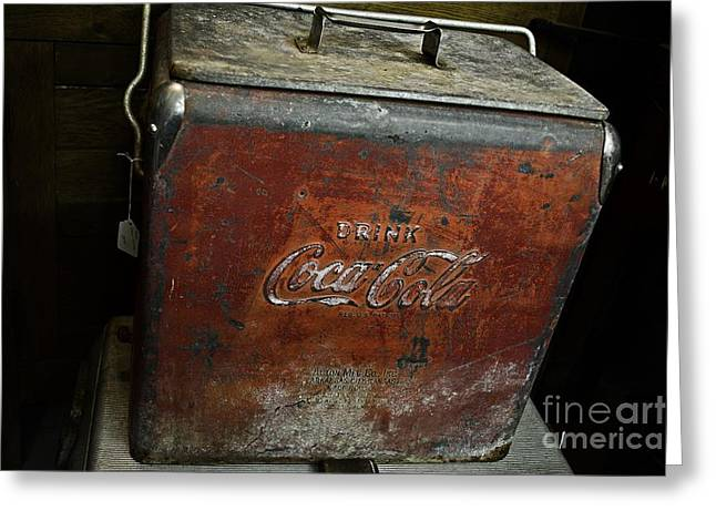 Coca Cola.coke-a-cola Greeting Cards - Rusty Memories of Coke Greeting Card by JW Hanley