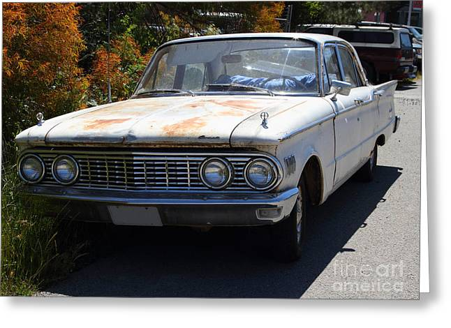 Mercury Hot Rod Greeting Cards - Rusty Mercury Comet . 7d15905 Greeting Card by Wingsdomain Art and Photography