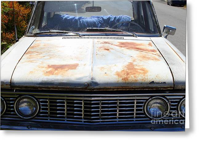 Mercury Hot Rod Greeting Cards - Rusty Mercury Comet . 7d15906 Greeting Card by Wingsdomain Art and Photography