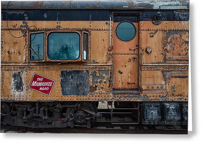 Train Yard Greeting Cards - Rusty Milwaukee Road Greeting Card by Mike Burgquist