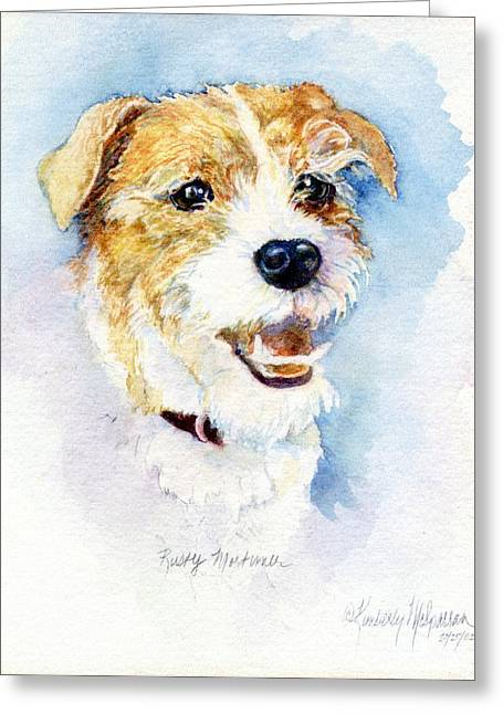 Collar Greeting Cards - Rusty Mortimer Greeting Card by Kimberly McSparran