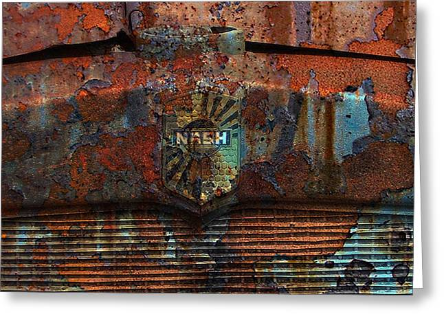 Rusted Cars Digital Art Greeting Cards - Rusty Nash Greeting Card by Greg Sharpe