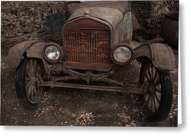 Ford Model T Car Greeting Cards - Rusty Ol Ford III Greeting Card by Kathleen Scanlan