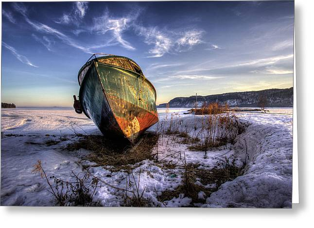 Canon Eos 6d Greeting Cards - Rusty Old Boad Greeting Card by Jakub Sisak