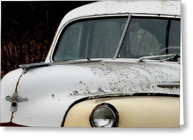 Rusted Cars Greeting Cards - Rusty Old Chrysler Greeting Card by Gail Matthews