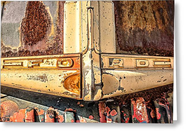 Old Pickup Greeting Cards - Rusty Old Ford Greeting Card by Edward Fielding