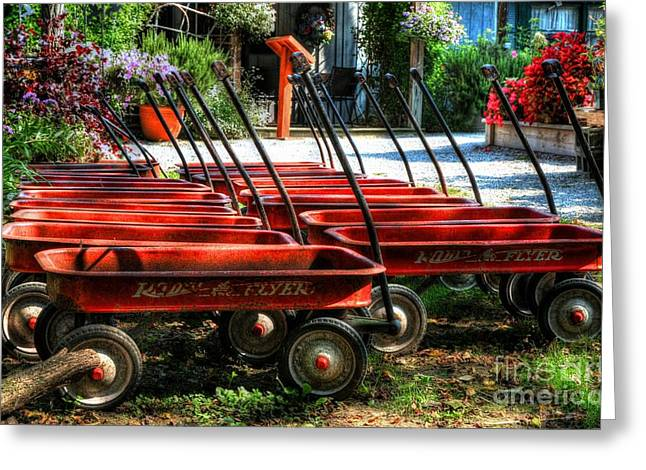 Rusty Old Wagons Greeting Card by Mel Steinhauer