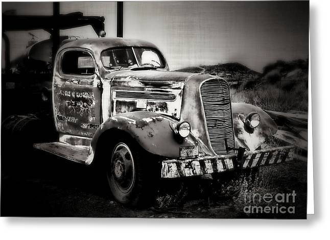 Old Truck Photography Greeting Cards - Rusty Past Greeting Card by Perry Webster