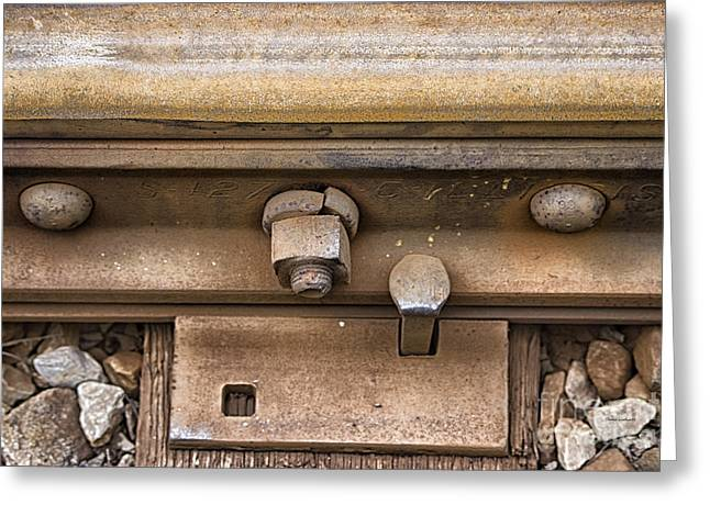 Calcined Greeting Cards - Rusty Railroad Rail Greeting Card by Thomas Woolworth
