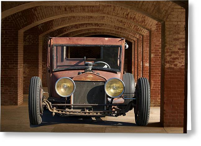 Rusty Rat Rod A Greeting Card by Dave Koontz