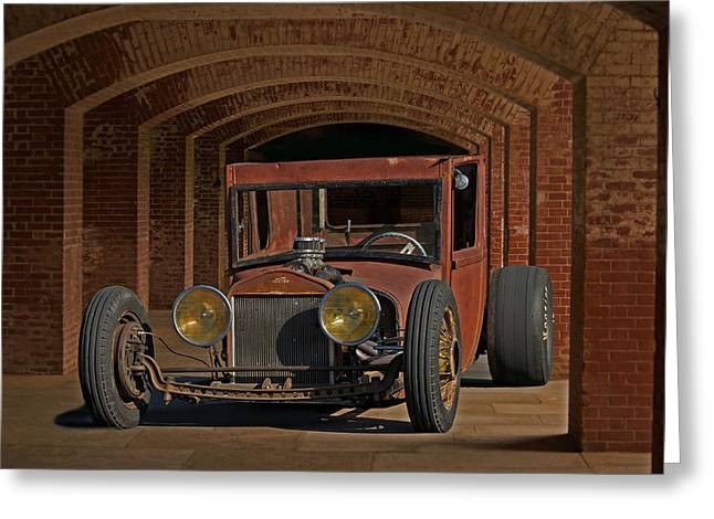 Rusty Rat Rod B Greeting Card by Dave Koontz