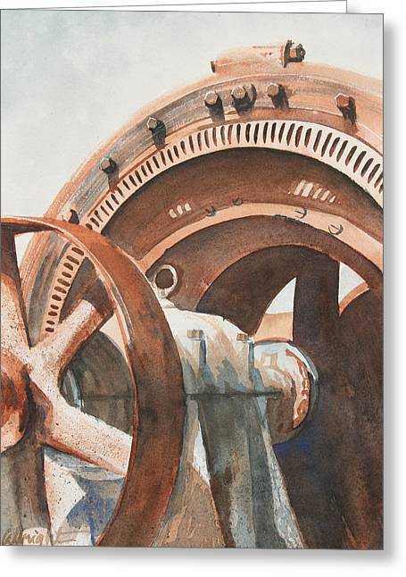 Processor Greeting Cards - Rusty Relic Greeting Card by Pam Albright