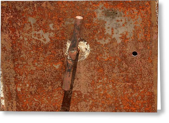 Rusty Safe Front Greeting Card by Art Block Collections