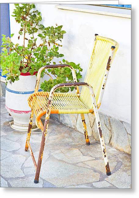 Weekend Photographs Greeting Cards - Rusty seat Greeting Card by Tom Gowanlock