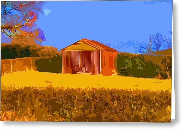 Shed Digital Art Greeting Cards - Rusty Shed Greeting Card by David Dench