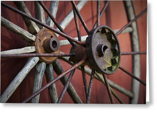 Old Mill Scenes Greeting Cards - Rusty Spokes Greeting Card by Eric Gendron