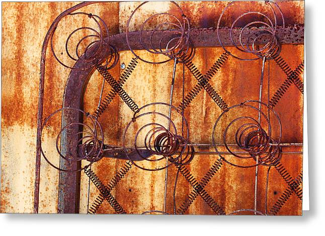 Coil Spring Greeting Cards - Rusty Springs Greeting Card by Art Block Collections