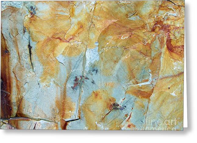 Mining Photos Greeting Cards - Rusty Stone Greeting Card by Laurie Klein