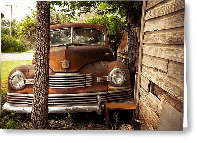 Wooden Shed Greeting Cards - Rusty Greeting Card by Toni Hopper