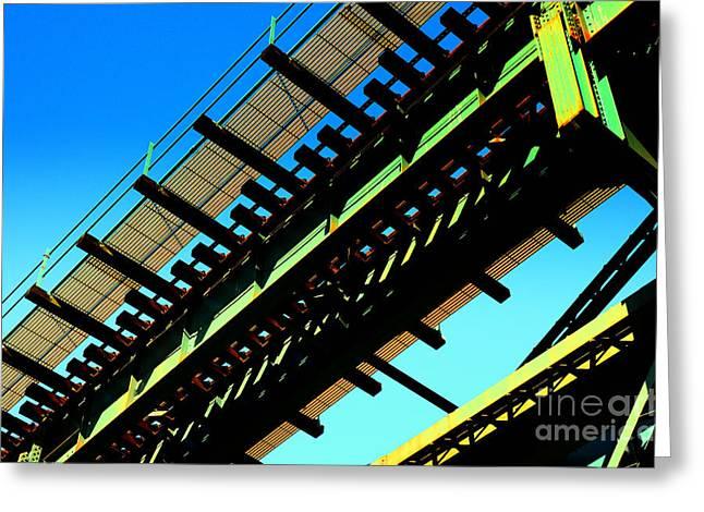 Turquois Greeting Cards - Rusty Train Bridge Bronx Ne Greeting Card by Sabine Jacobs