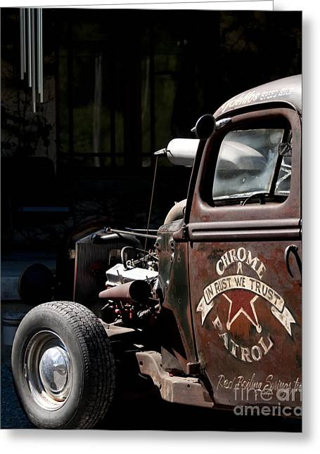 Old Trucks Greeting Cards - Rusty Transportation Greeting Card by Wilma  Birdwell