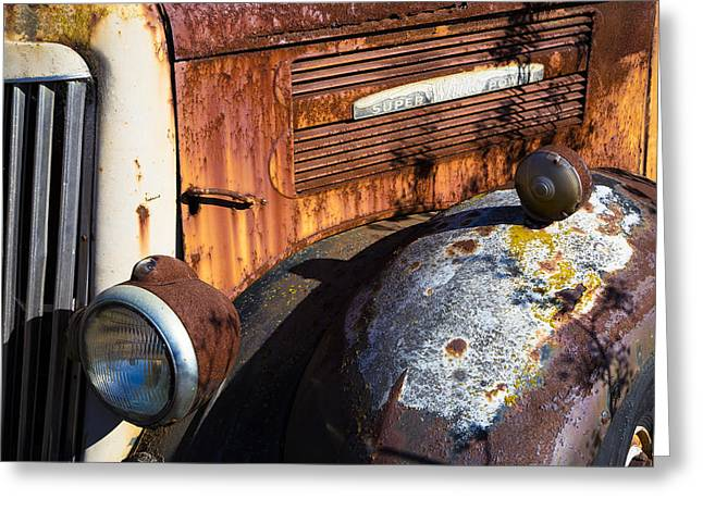 Junker Greeting Cards - Rusty Truck Detail Greeting Card by Garry Gay