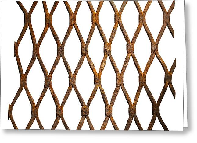 Oxidation Greeting Cards - Rusty wire mesh Greeting Card by Tony Cordoza