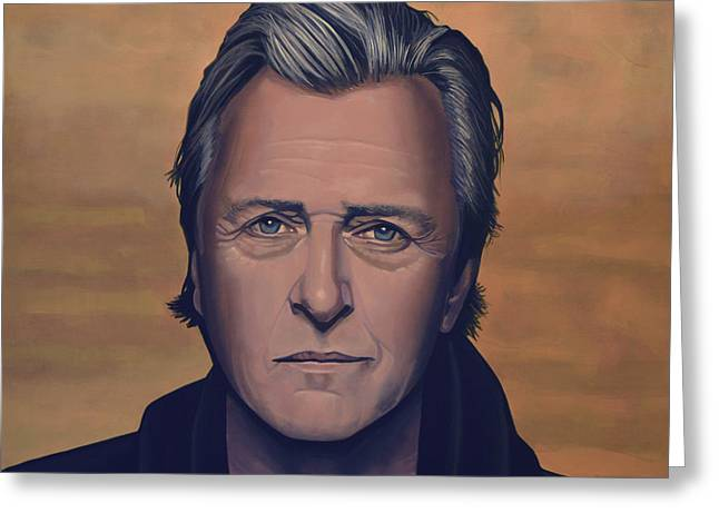 Mind Paintings Greeting Cards - Rutger Hauer Greeting Card by Paul  Meijering