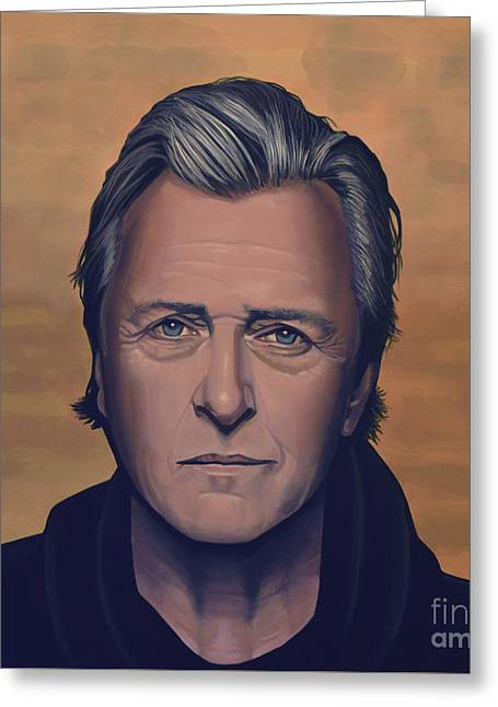 Rutger Hauer Greeting Card by Paul Meijering
