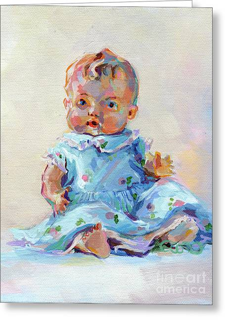 Vintage Dolls Greeting Cards - Ruthie Greeting Card by Kimberly Santini