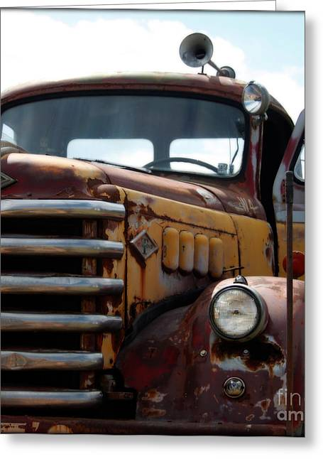 Old Trucks Greeting Cards - Ruts Diamond T Greeting Card by Steven  Digman
