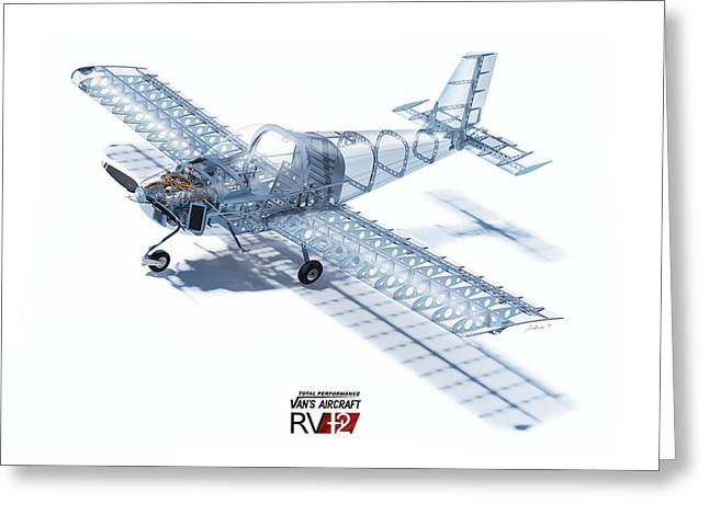 Rv Greeting Cards - RV-12 Cutaway with Logo Greeting Card by Hangar B Productions