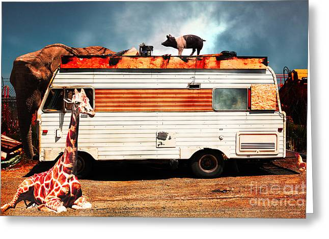Rv Trailer Park 5d22705 Greeting Card by Wingsdomain Art and Photography