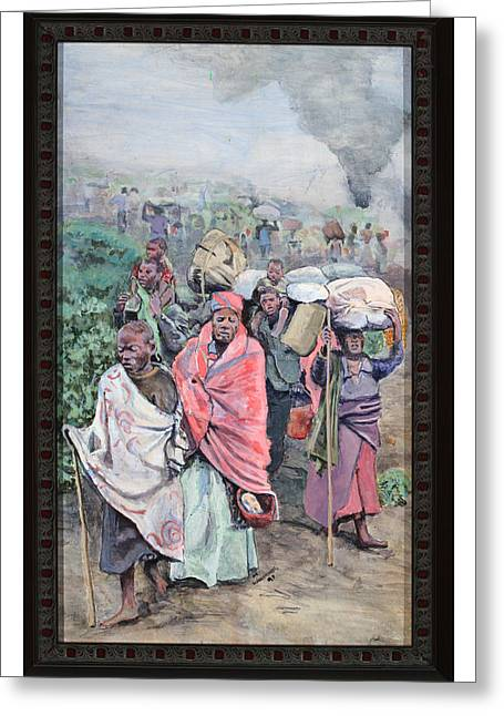 Suffering Soul Greeting Cards - Rwanda Greeting Card by Mike Walrath