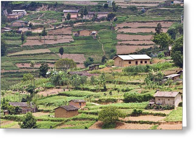 Land Use Greeting Cards - Rwandan farming Greeting Card by Science Photo Library