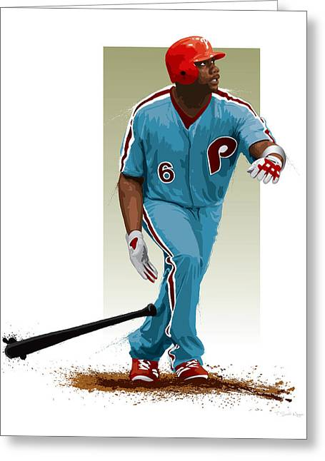 Citizens Bank Greeting Cards - Ryan Howard Greeting Card by Scott Weigner
