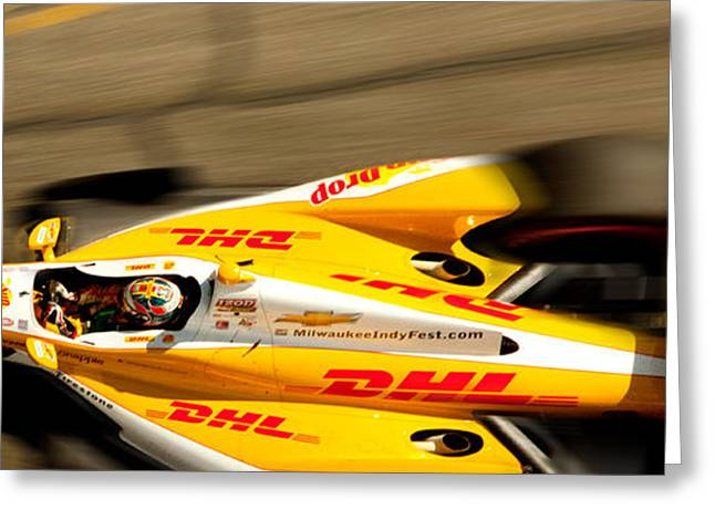Indy Car Greeting Cards - Ryan Hunter-Reay Greeting Card by Denise Dube