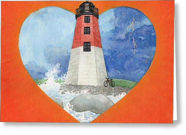 Points Mixed Media Greeting Cards - Ryan Greeting Card by Lisa Kretchman