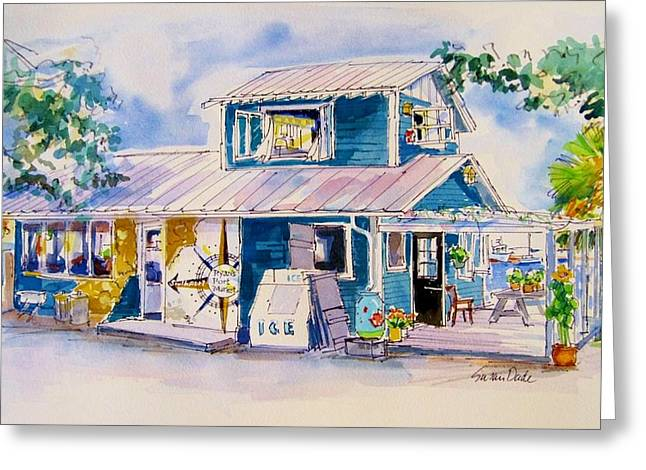 Safe Haven Greeting Cards - Ryans Port Market Greeting Card by Susan Dade