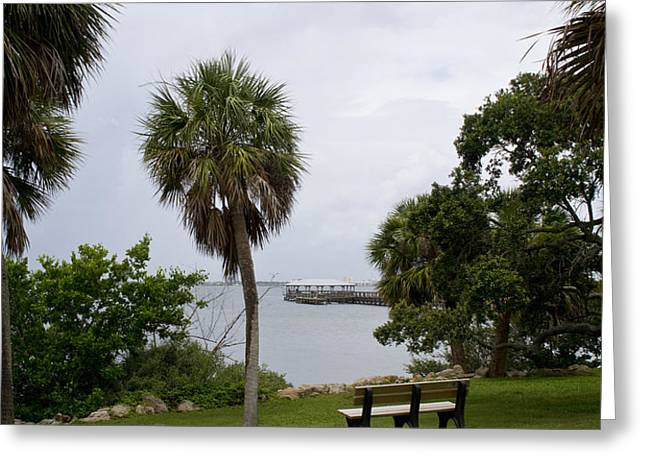 Ryckman Park in Melbourne Beach Florida Greeting Card by Allan  Hughes