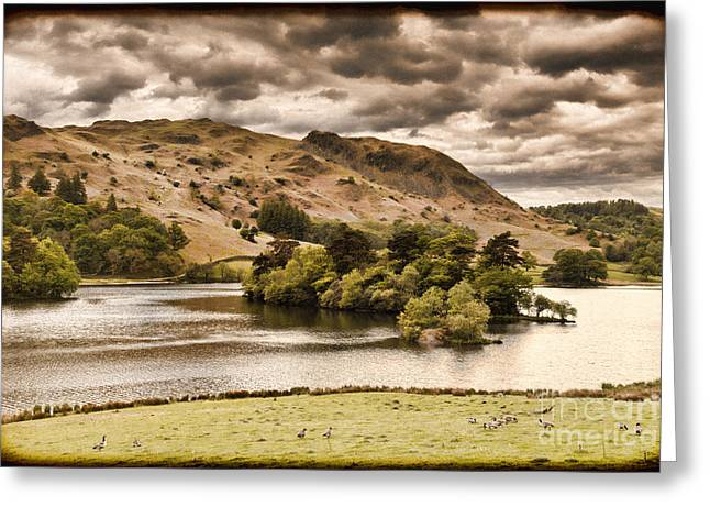 Vintage Landscapes Greeting Cards - Rydal Water Cumbria England Greeting Card by Colin and Linda McKie