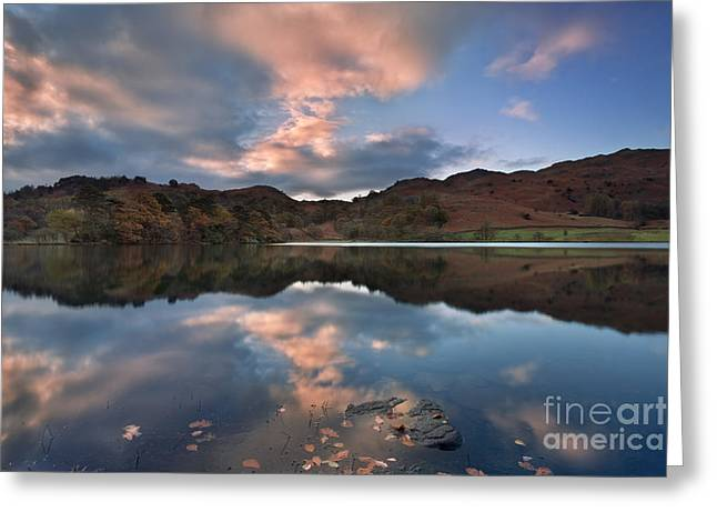 Rydal Water Greeting Card by Rod McLean