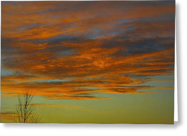 Spectacular Greeting Cards - Rye Brook Sky Greeting Card by Diana Angstadt
