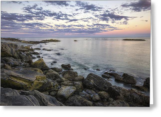 Coastal Route Greeting Cards - Rye Cliffs Greeting Card by Eric Gendron