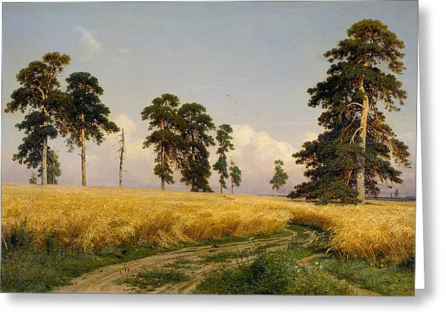 Ivan Greeting Cards - Rye Greeting Card by Ivan Shishkin
