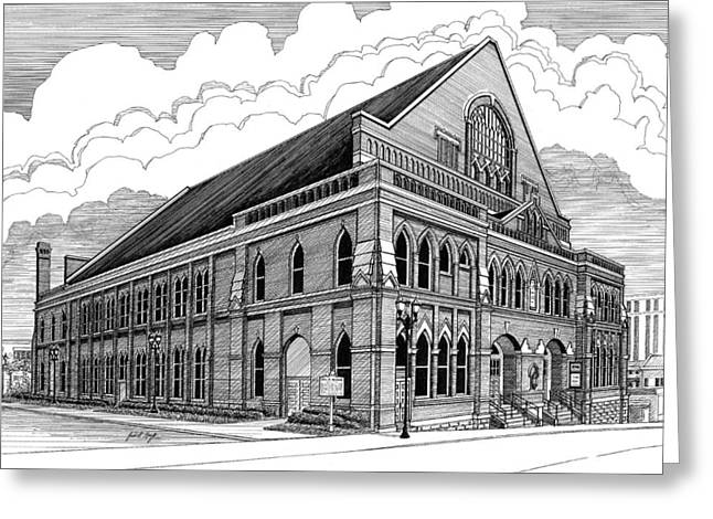 Tennessee Historic Site Greeting Cards - Ryman Auditorium in Nashville TN Greeting Card by Janet King