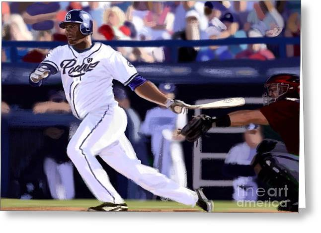 Petco Park Digital Art Greeting Cards - Rymer Liriano Greeting Card by Jeremy Nash