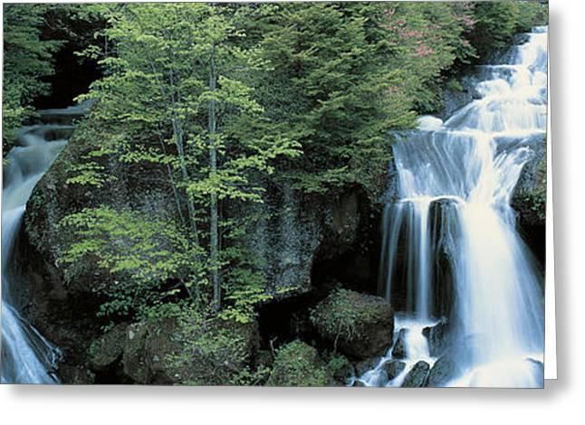 Dropping Greeting Cards - Ryuzu Waterfall Nikko Tochigi Japan Greeting Card by Panoramic Images