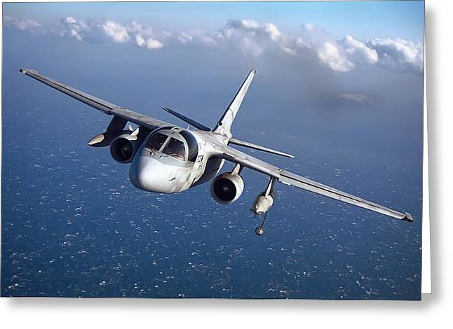 Tracker Greeting Cards - S-3 Viking A K A Hoover Aircraft Greeting Card by Daniel Hagerman