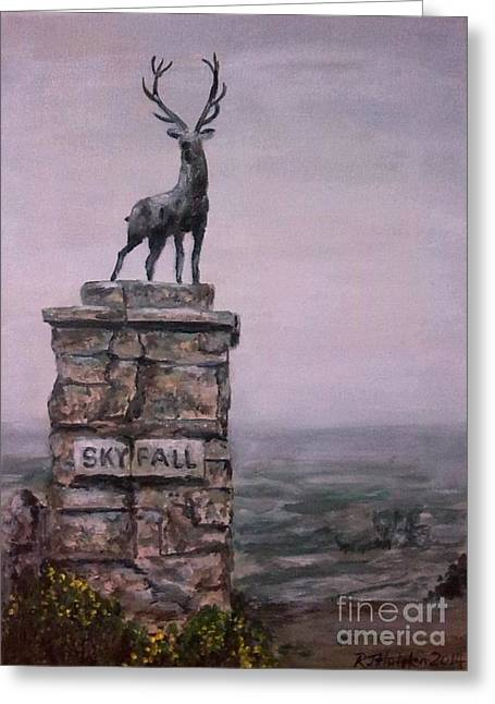 Sean Paintings Greeting Cards - S  K  Y  F  A  L  L Greeting Card by Richard John Holden